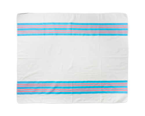 Baby Blanket White with Stripes