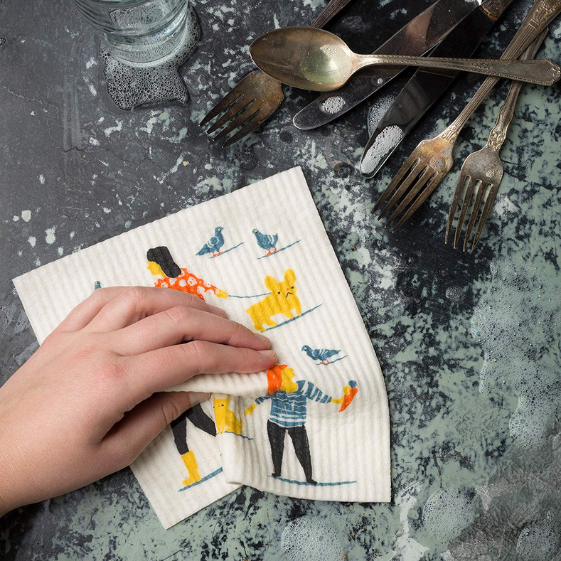 Swedish Dishcloths Also Called Sponge Cloths, Are Environmentally Friendly For Cleaning & Shining