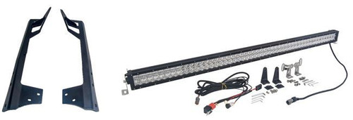 "Twin 4D 52"" LED Light Bar With JK Metal Brackets Package"