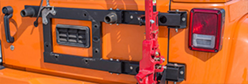 Spare Tire Carrier Reinforcement Bracket w/ Tailgate Hinges