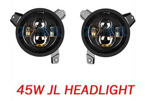 "JL 7"" G12 90W DOT LED Headlights (ANTI FLICKER INCLUDED)"