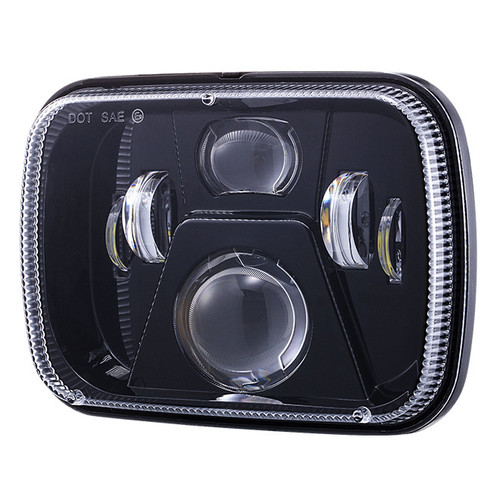 5X7″ BLACK LED HEADLIGHT 60W – DOT APPROVED - SOLD PER PAIR (ANTI FLICKER INCLUDED)