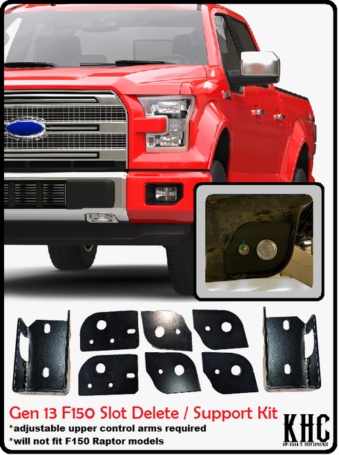 13TH (2015-2020) GENERATION F150 SLOT DELETE / SUPPORT KIT