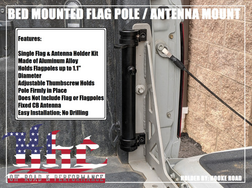 KHC OFF-ROAD BOLT IN BED MOUNTED FLAG / ANTENNA HOLDER