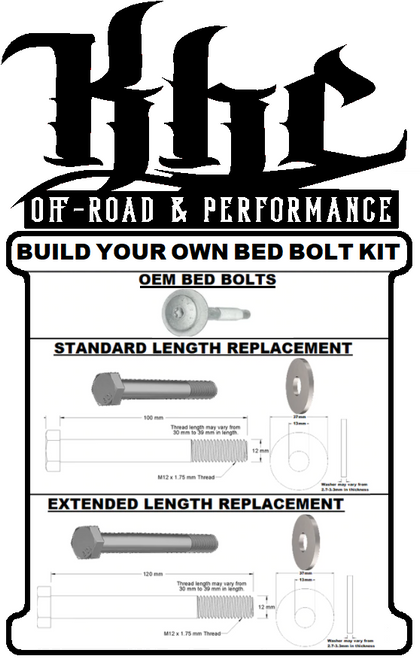 BUILD YOUR OWN BED BOLT KIT