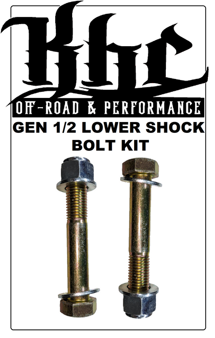 KHC OFF-ROAD GEN 1/2 RAPTOR FRONT LOWER SHOCK BOLT KIT