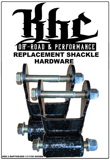 KHC Off-Road F150 & Raptor Replacement Shackle Hardware