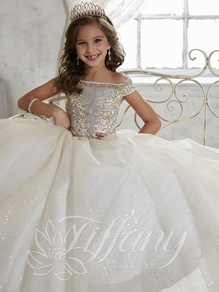 Tulle Girls Pageant Dress Tiffany Princess 13457