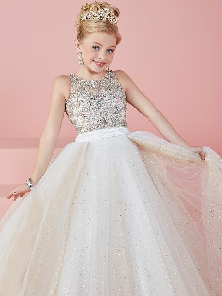 Beaded Girls Pageant Dress Tiffany Princess 13476
