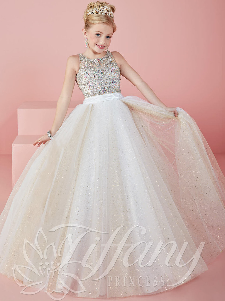 Tulle Ball Gown Tiffany Princess Pageant Dress 13476