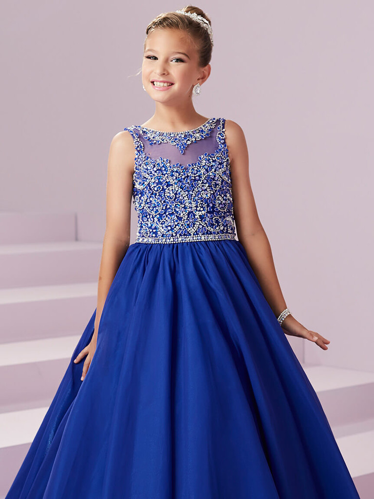Beaded Bodice Pageant Gown Tiffany Princess 13496
