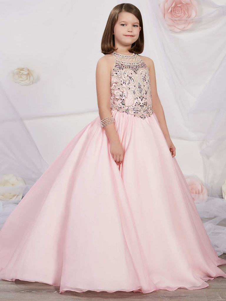 Tulle Halter Pageant Gown by Tiffany Princess 13534