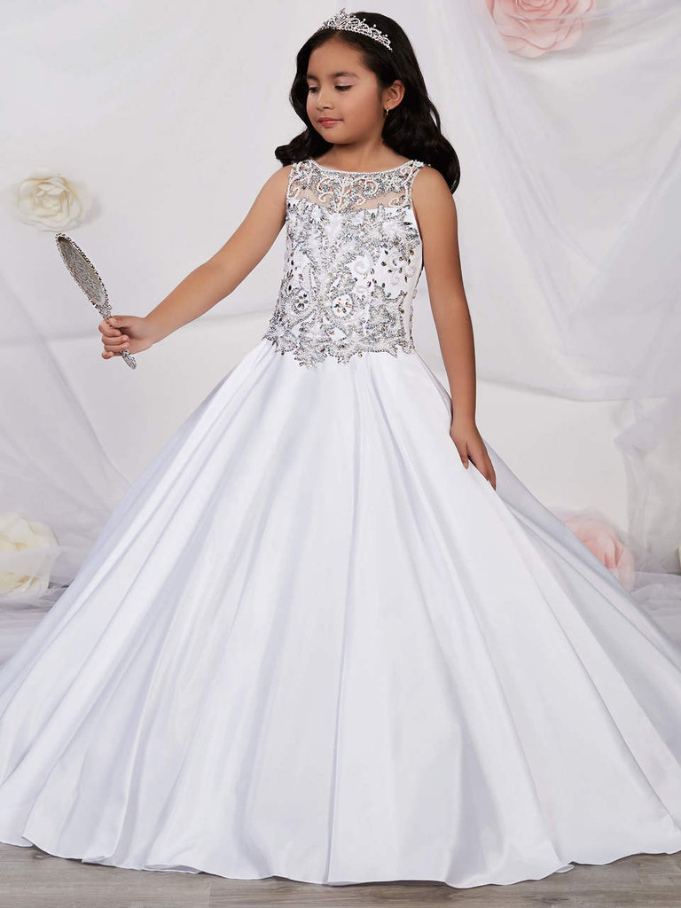 Scooped Illusion Pageant Gown by Tiffany Princess 13536