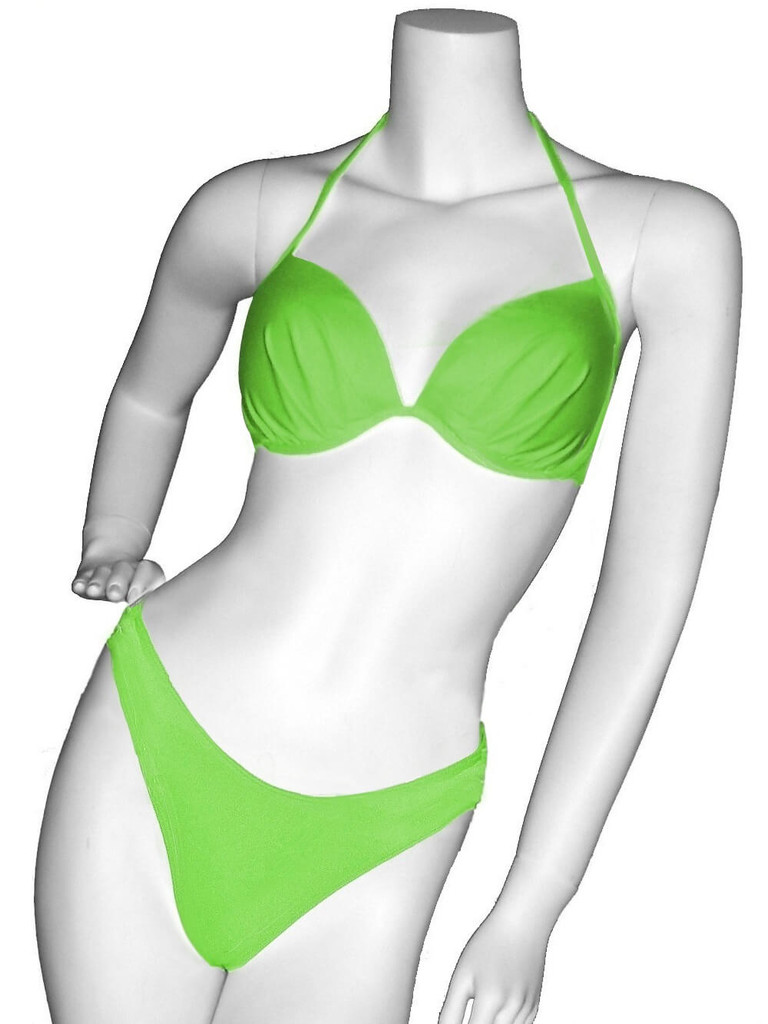 lemonPleaded Accent Bust Two Piece Lady M Swimsuit Sumi