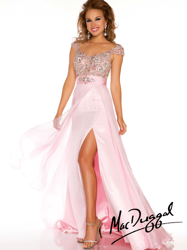 Capped Sleeve Pageant Dress Mac Duggal 42982P