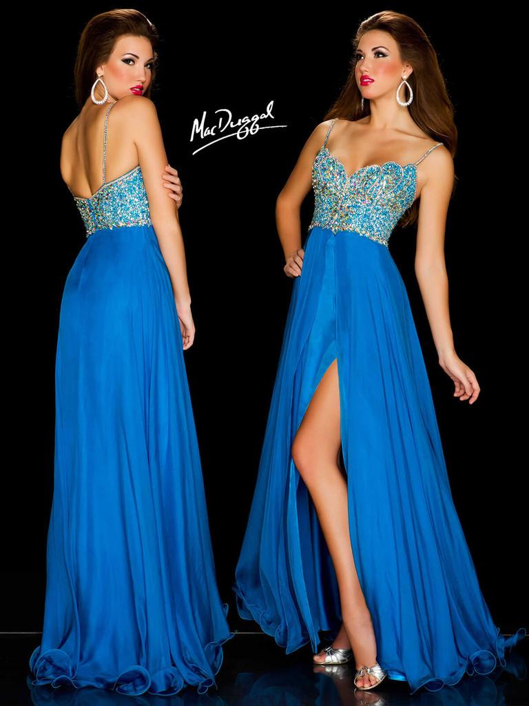 Sweetheart Mac Duggal Long Silk Pageant Dress 42832P