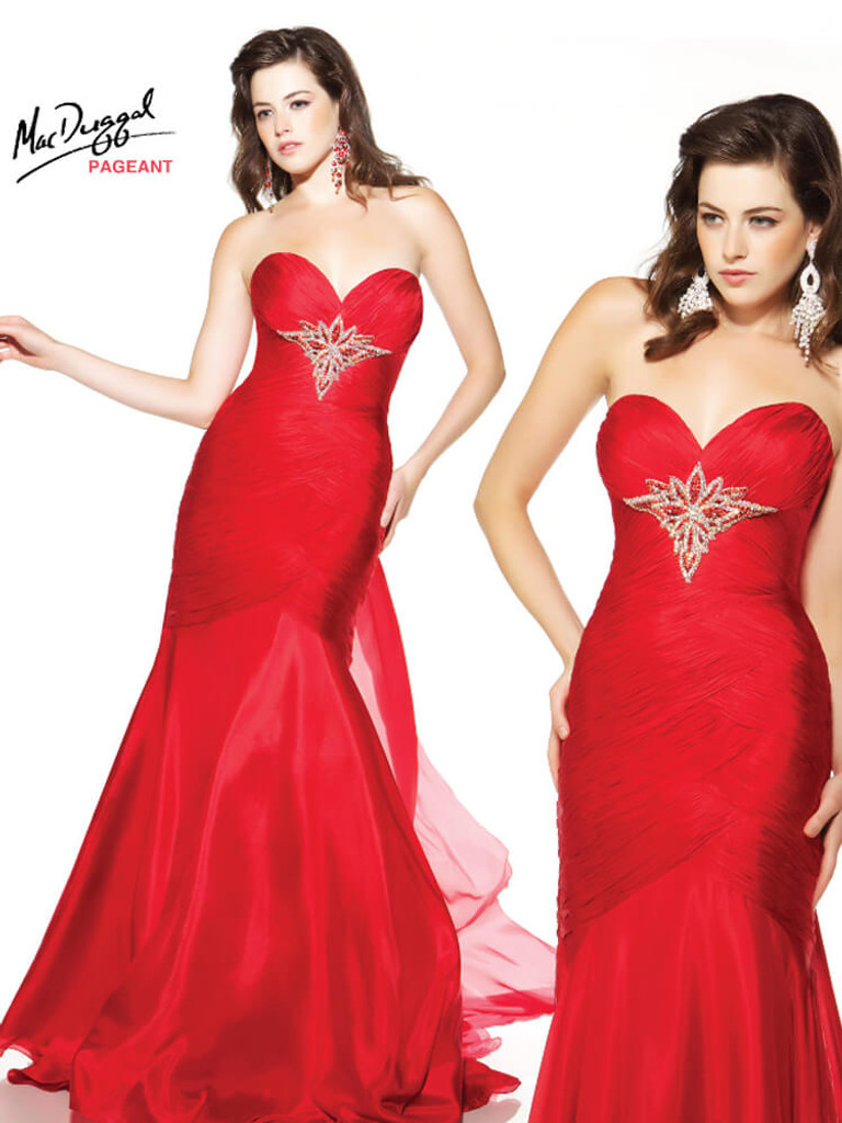 Red Pageant Dress  By Mac Duggal 42429P