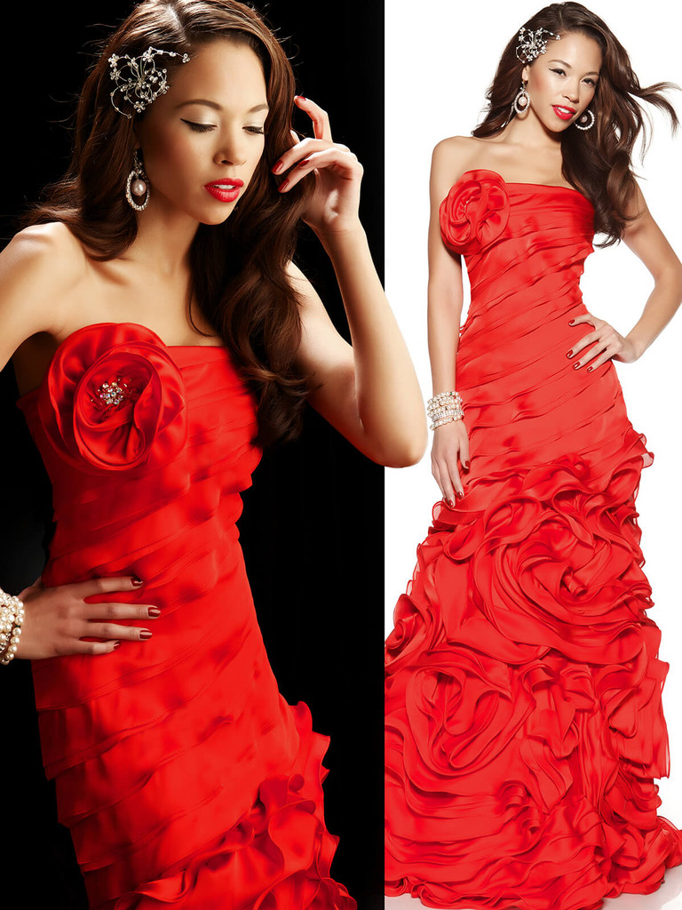 Red Mac Duggal Formal Long Dress 7146
