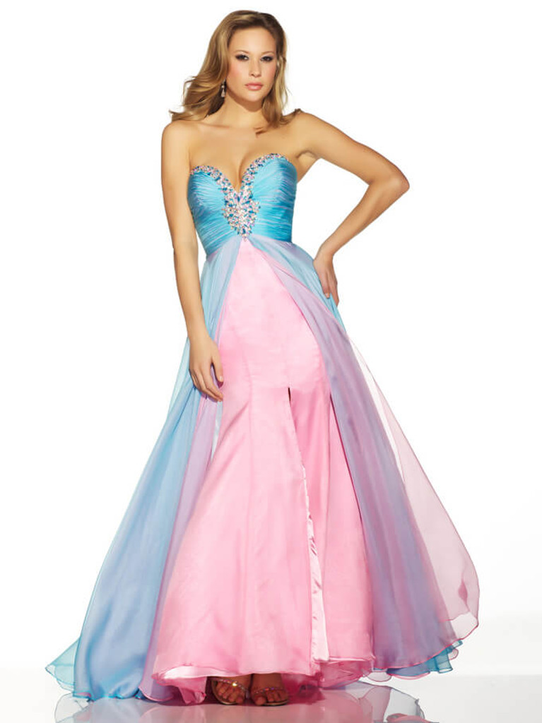 duo tone blue/pink pageant dress by mac duggal 81265p