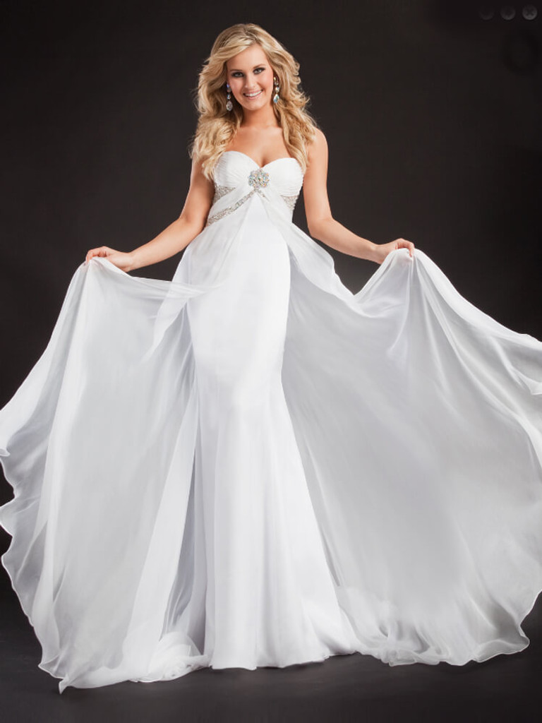 white sweetheart strapless pageant dress prima donna 5606