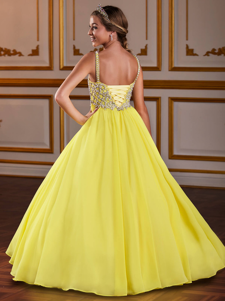 Scoop Neckline Girls Pageant Dress Tiffany Princess 13586