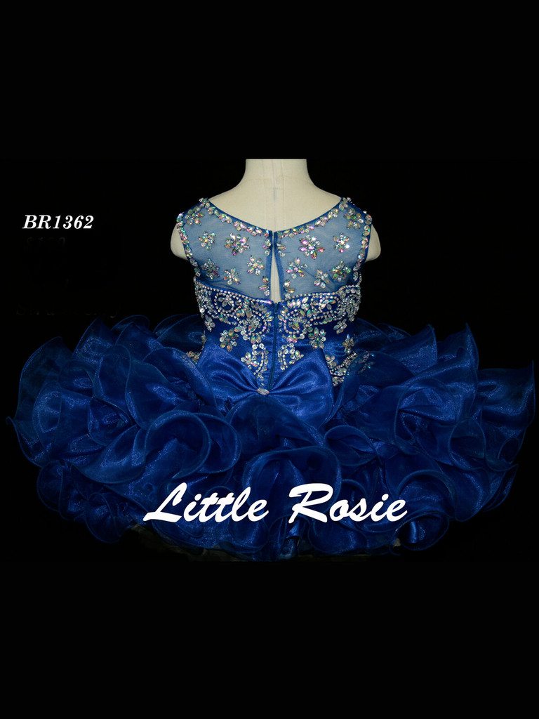 Illusion Neckline Pageant Dress Little Rosie Baby BR1362