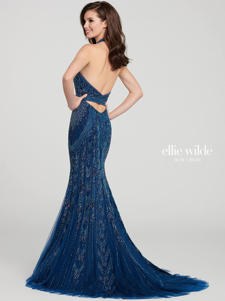 Beaded Ellie Wilde Pageant Dress EW119105