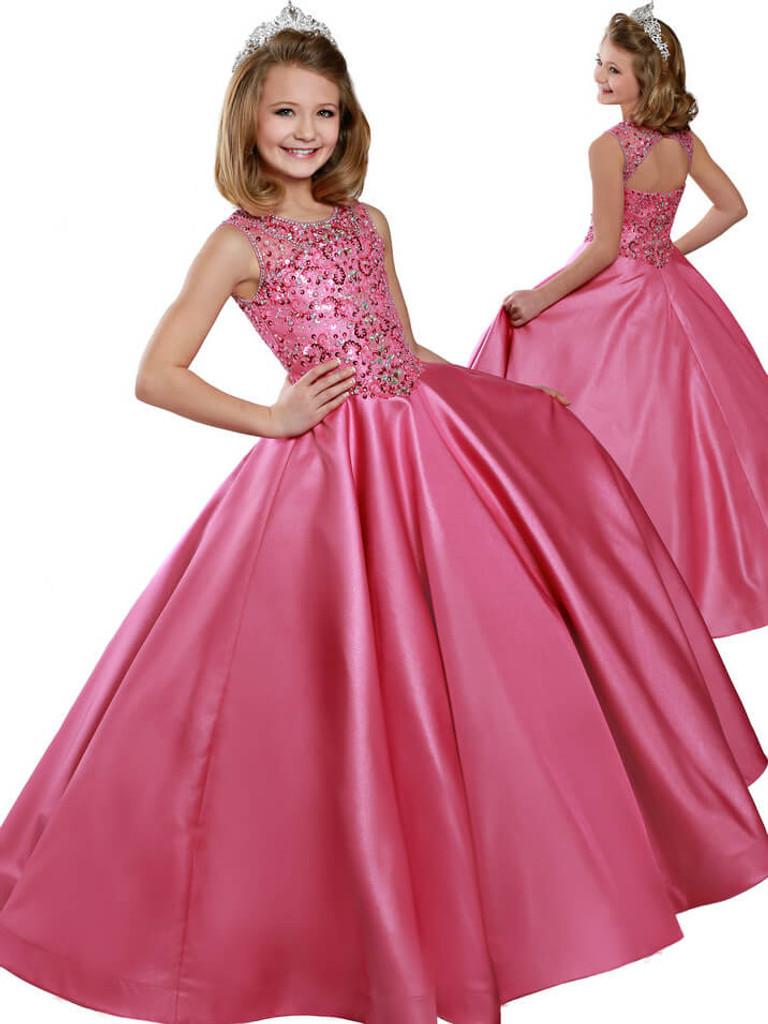 Scoop Neckline Pageant Dress Ritzee Girls 7814