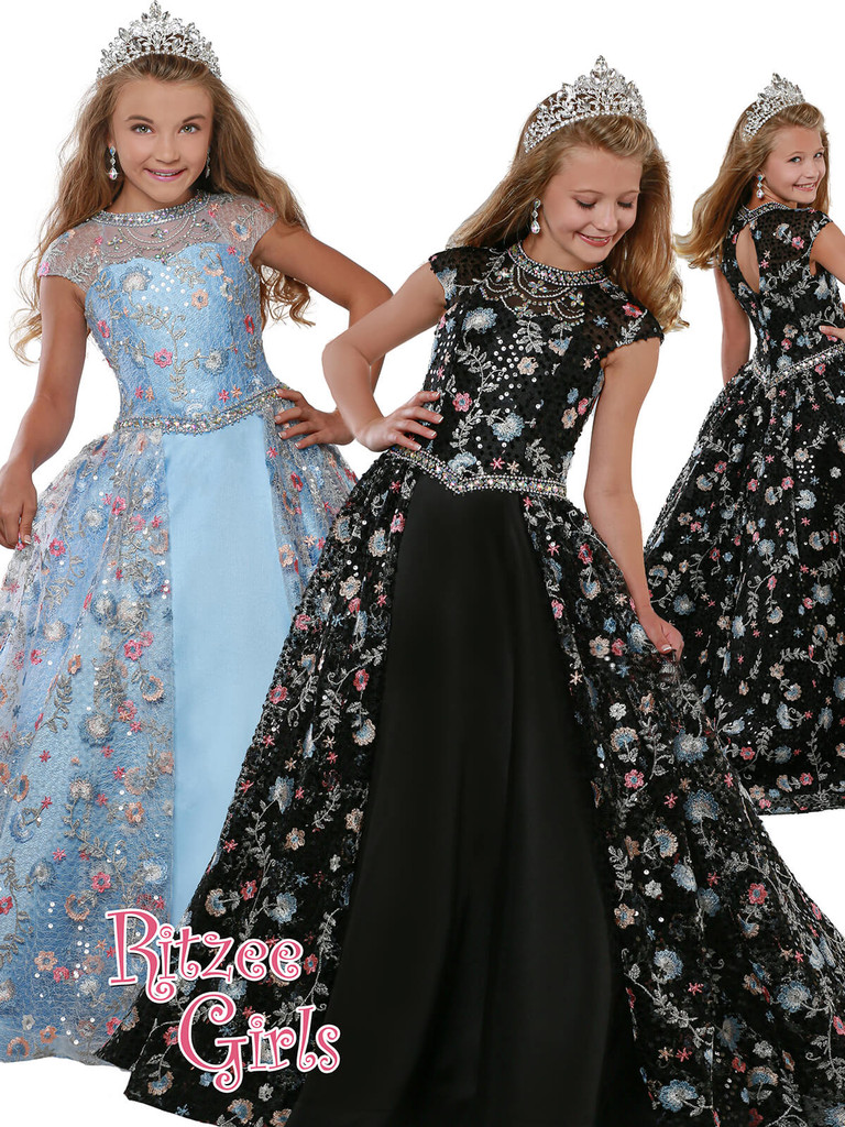 Ball Gown Ritzee Girls 7917 Pageant Dress PageantDesigns