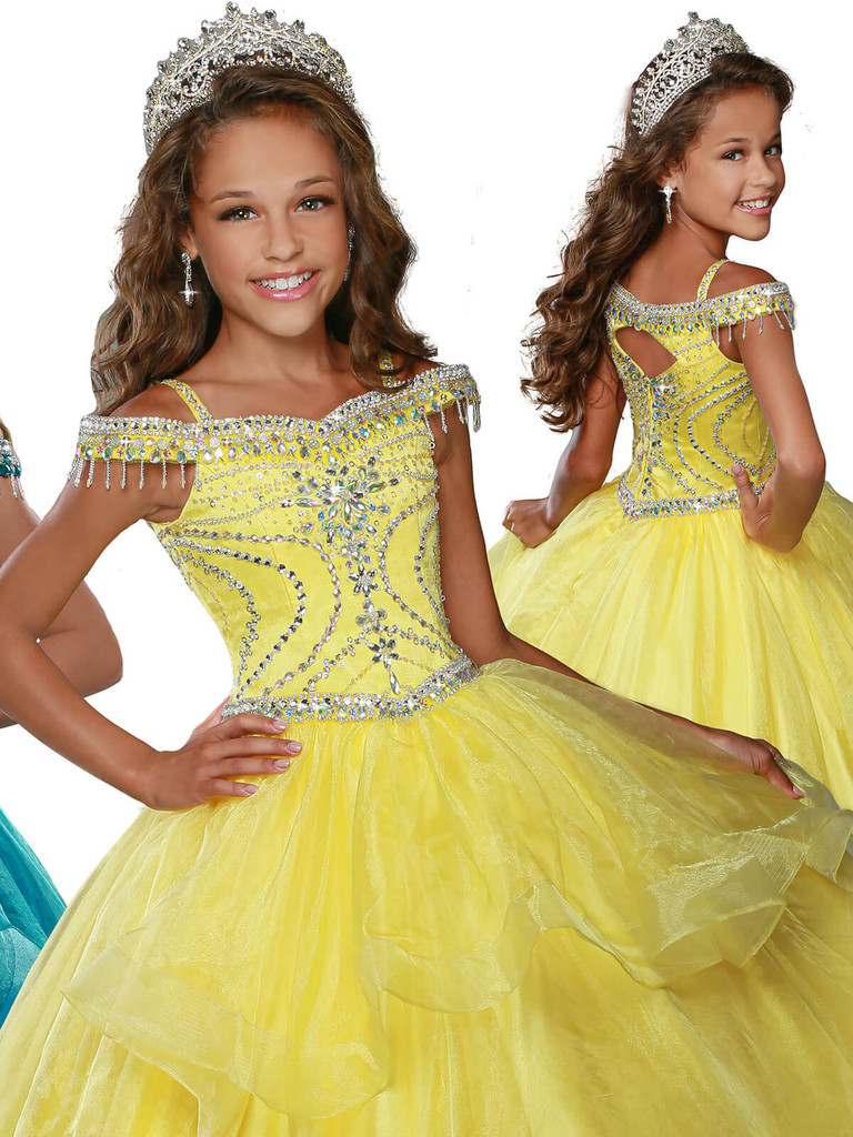 Off The Shoulder Pageant Dress Ritzee Girls 7921