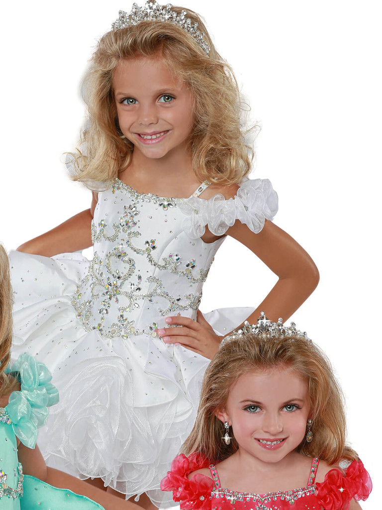 Off The Shoulder Cupcake Pageant Dress Ritzee Girls B277
