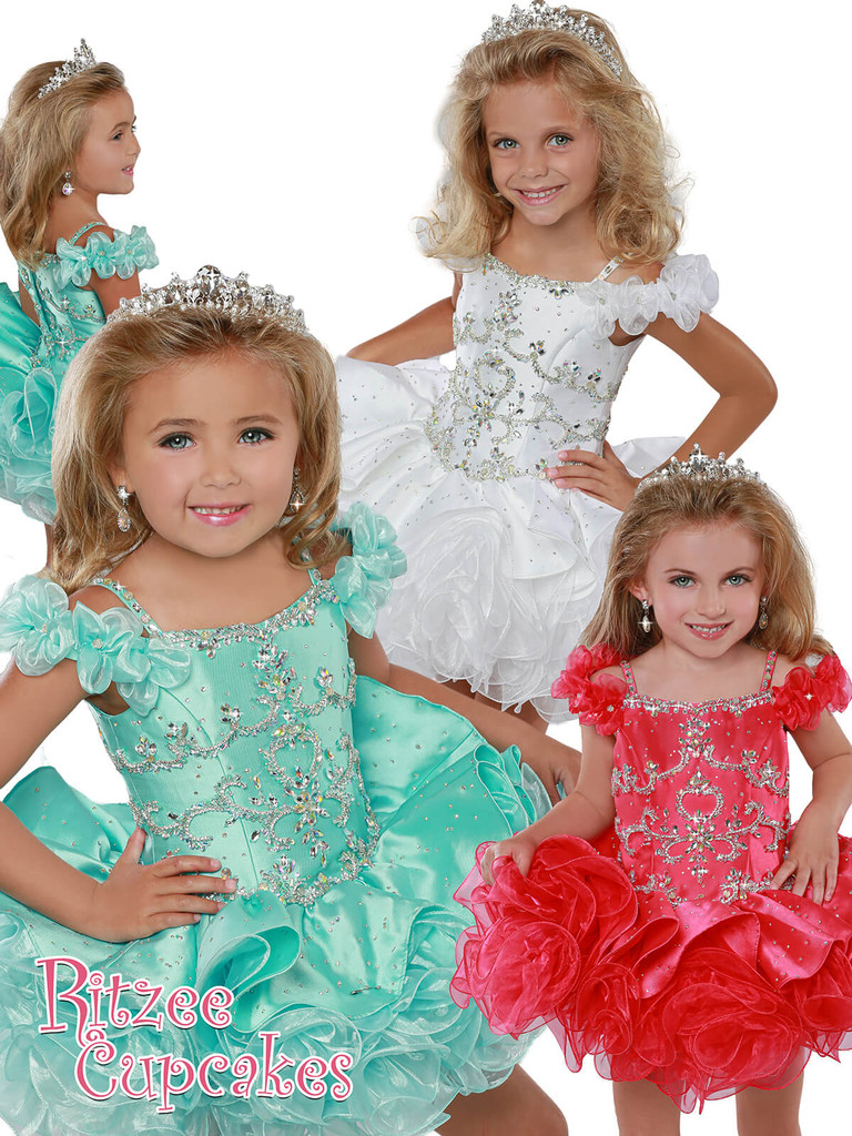 Cupcake Ritzee Girls B277 Pageant Dress PageantDesigns