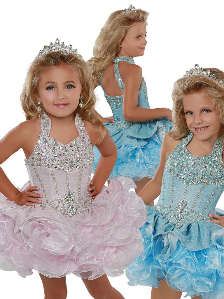 Halter Cupcake Pageant Dress Ritzee Girls B282