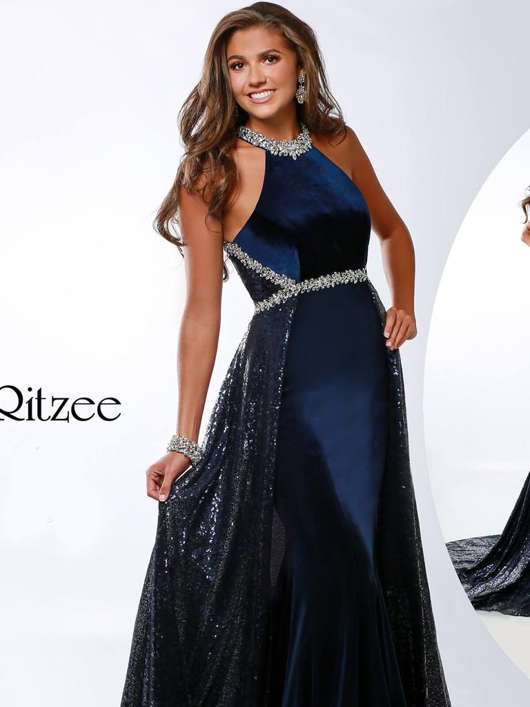 Halter Pageant Dress Ritzee Originals 3633