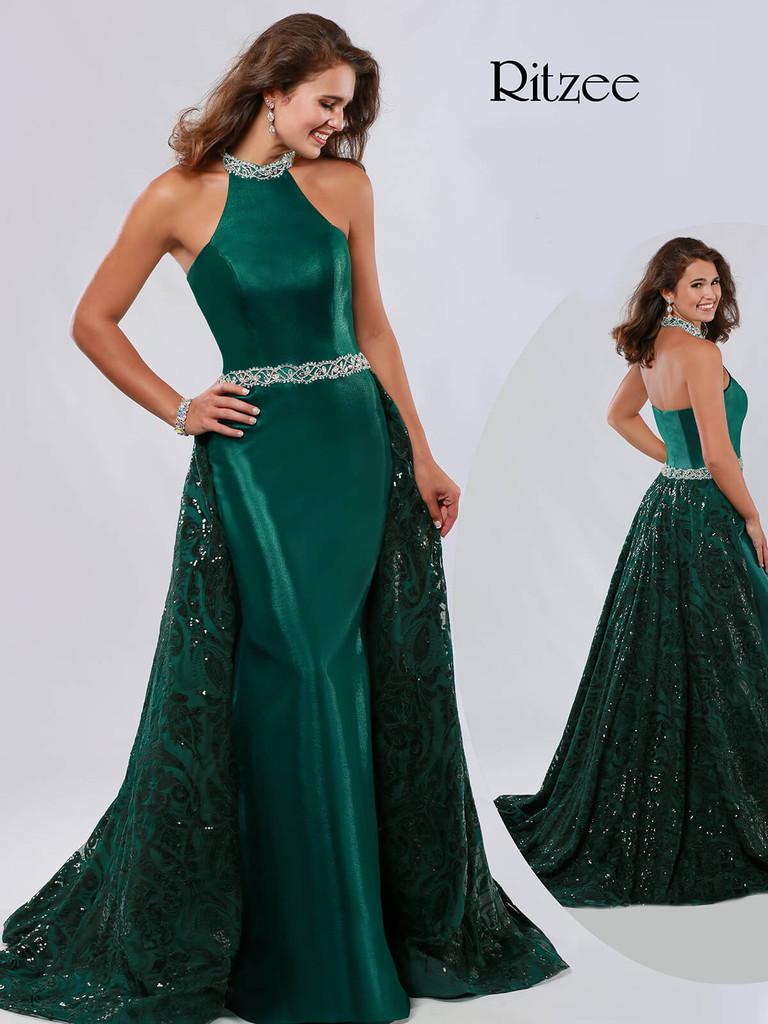Halter Ritzee Originals 3643 Pageant Dress PageantDesigns