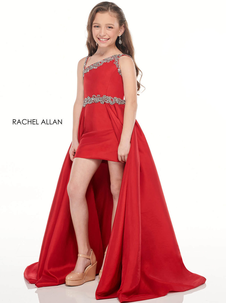 One Shoulder Girls Pageant Dress Perfect Angels 10002