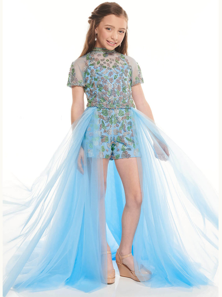 Beaded Shorts With Overlay Perfect Angels 10006 Pageant Dress PageantDesigns