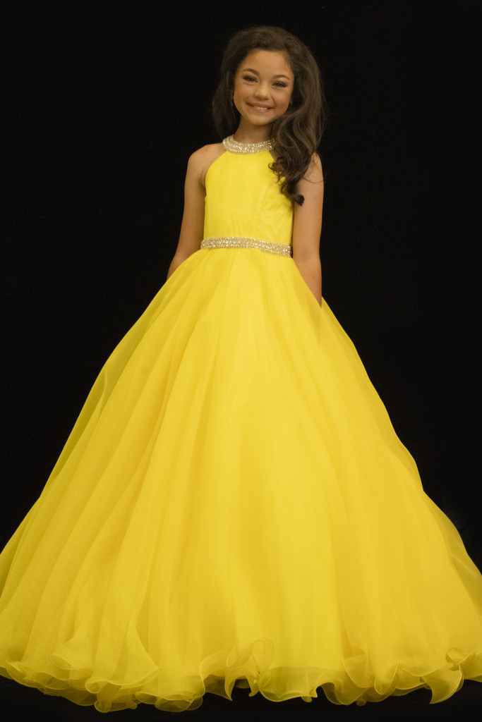 Yello Ball Gown Sugar Kayne C114 Little Girl Pageant Dress