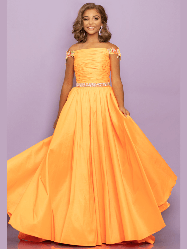 Romper Sugar Kayne C129 Pageant Dress With Overskirt PageantDesigns