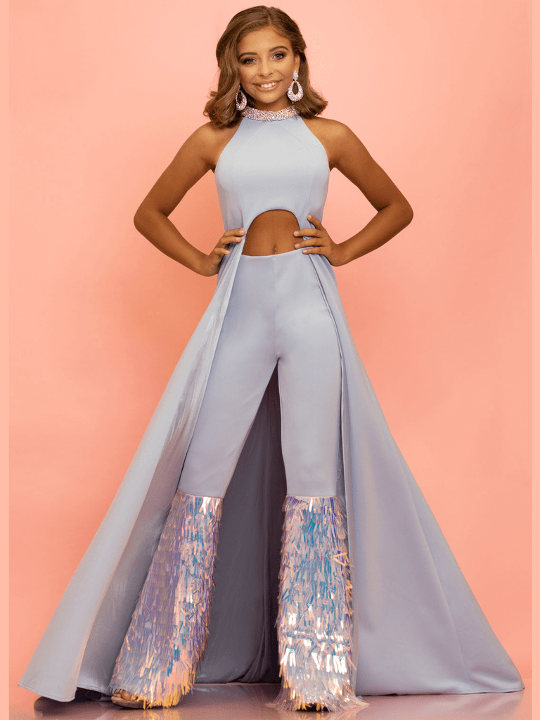 Jumpsuit Sugar Kayne C131 Pageant Dress With Overskirt PageantDesigns
