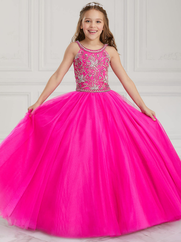 Scoop Neckline Tiffany Princess 13613 Pageant Dress PageantDesigns