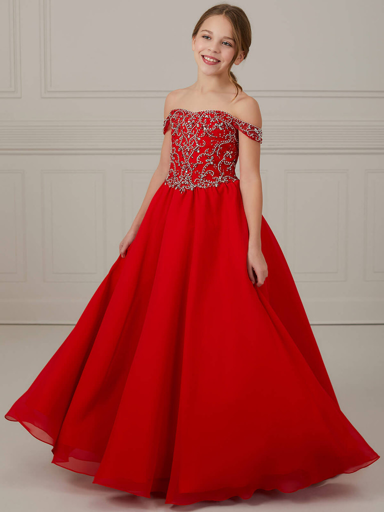 Off The Shoulder Tiffany Princess 13644 Pageant Dress