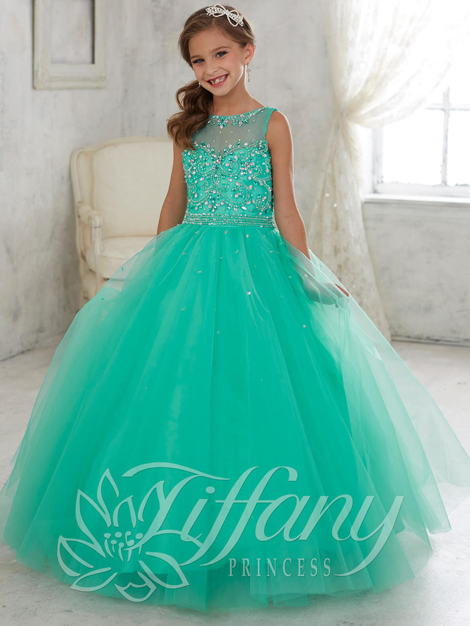 Tulle Pageant Dress by Tiffany Princess 13442