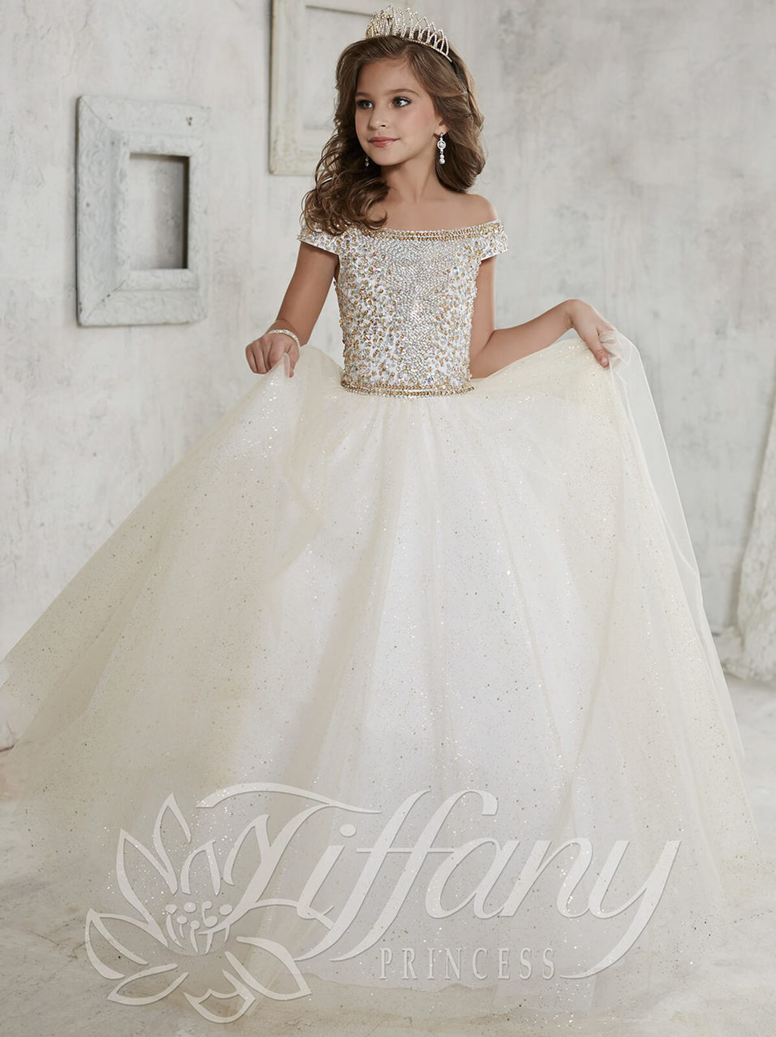 Tulle Pageant Dress by Tiffany Princess 13457