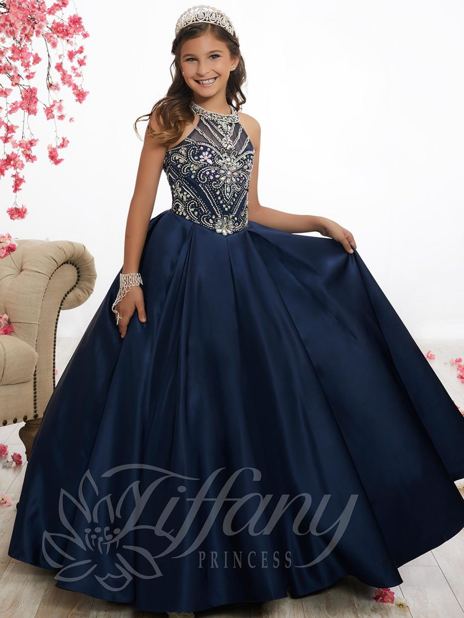 Sweetheart Illusion Pageant Gown by Tiffany Princess 13528