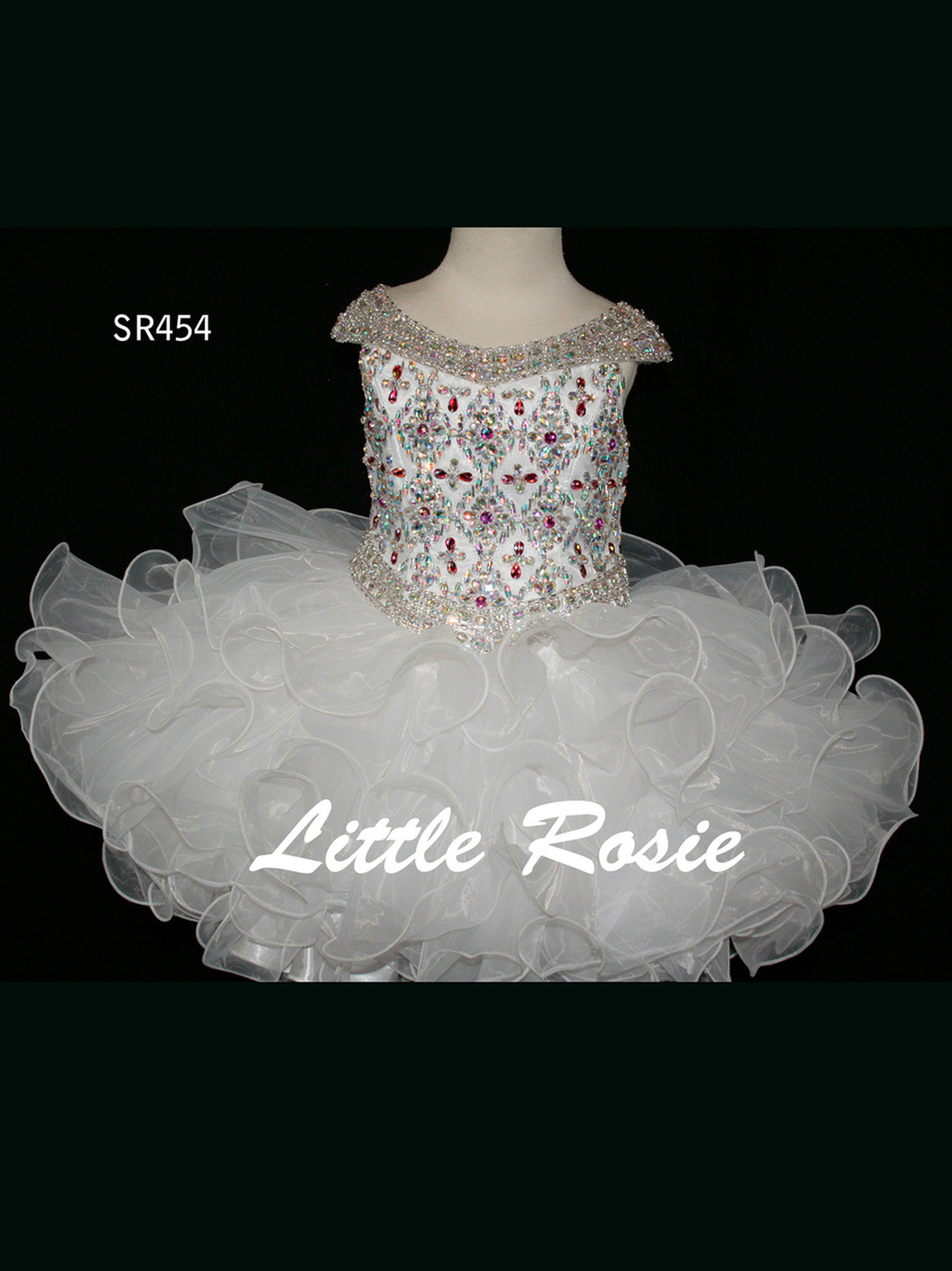 Little Rosie Hand Beaded Short Pageant Dress SR454