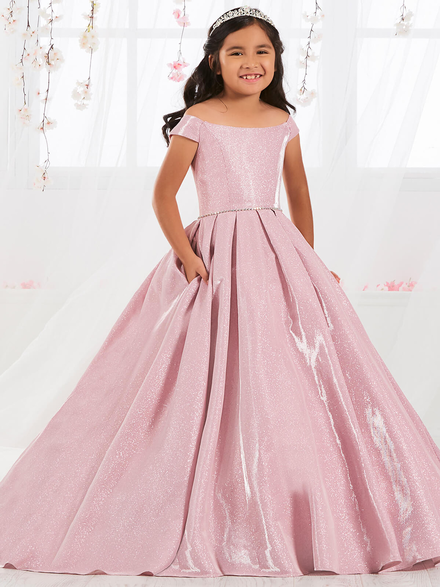 Shimmering Girls Pageant Dress Tiffany Princess 13556