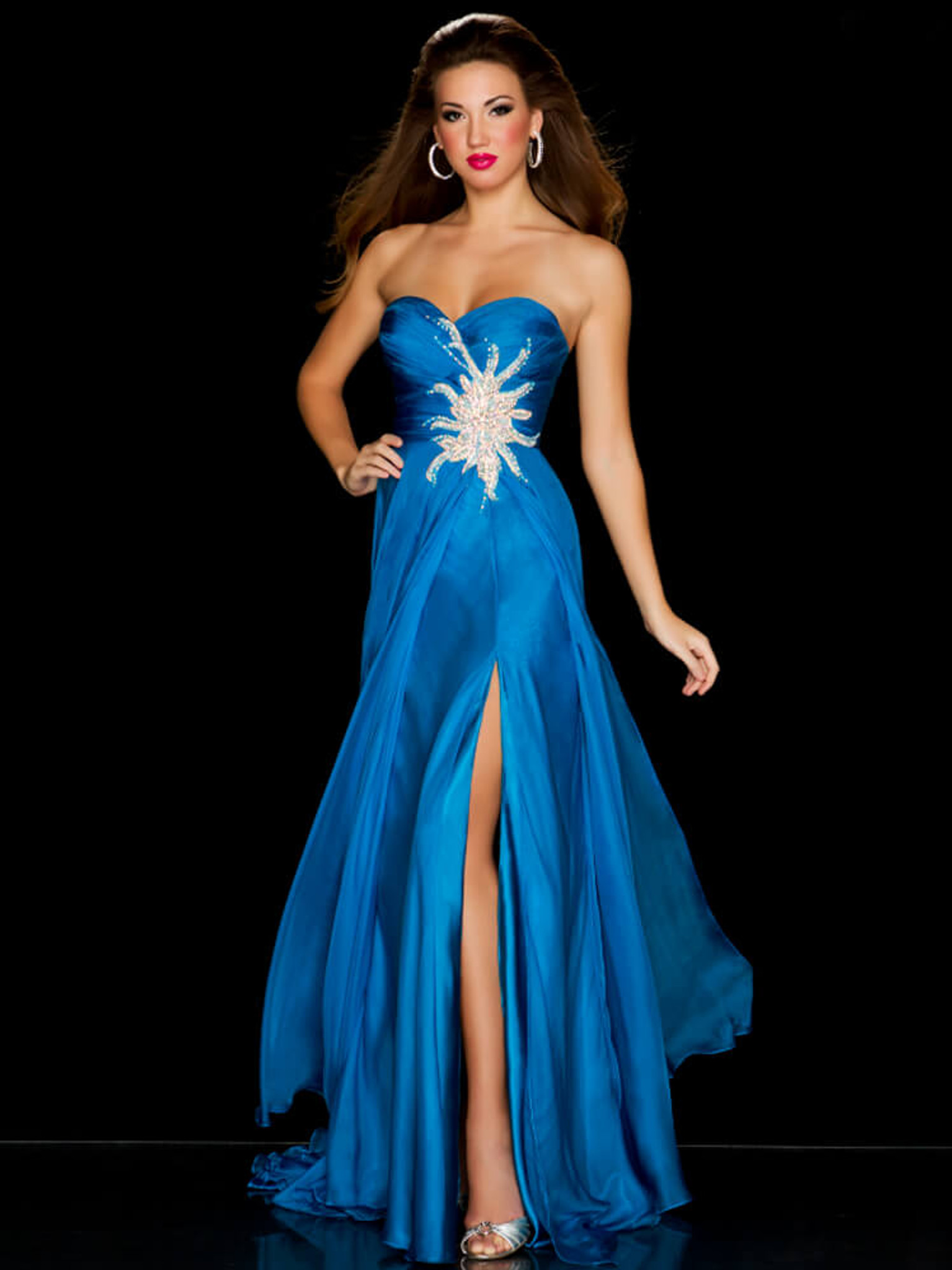 Strapless Mac Duggal Sweetheart Pageant Dress 6355P