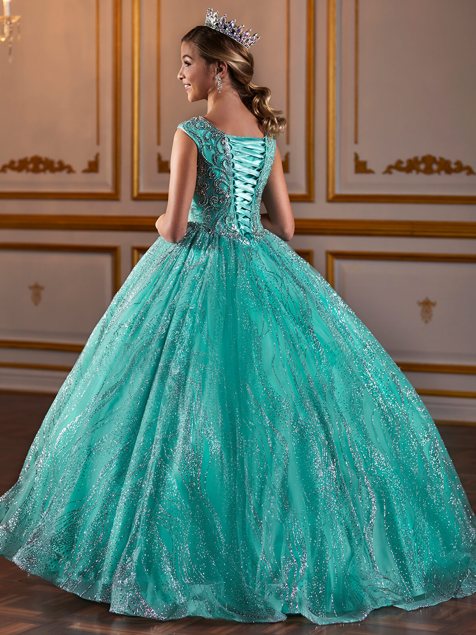 Scoop Neckline Girls Pageant Dress Tiffany Princess 13575