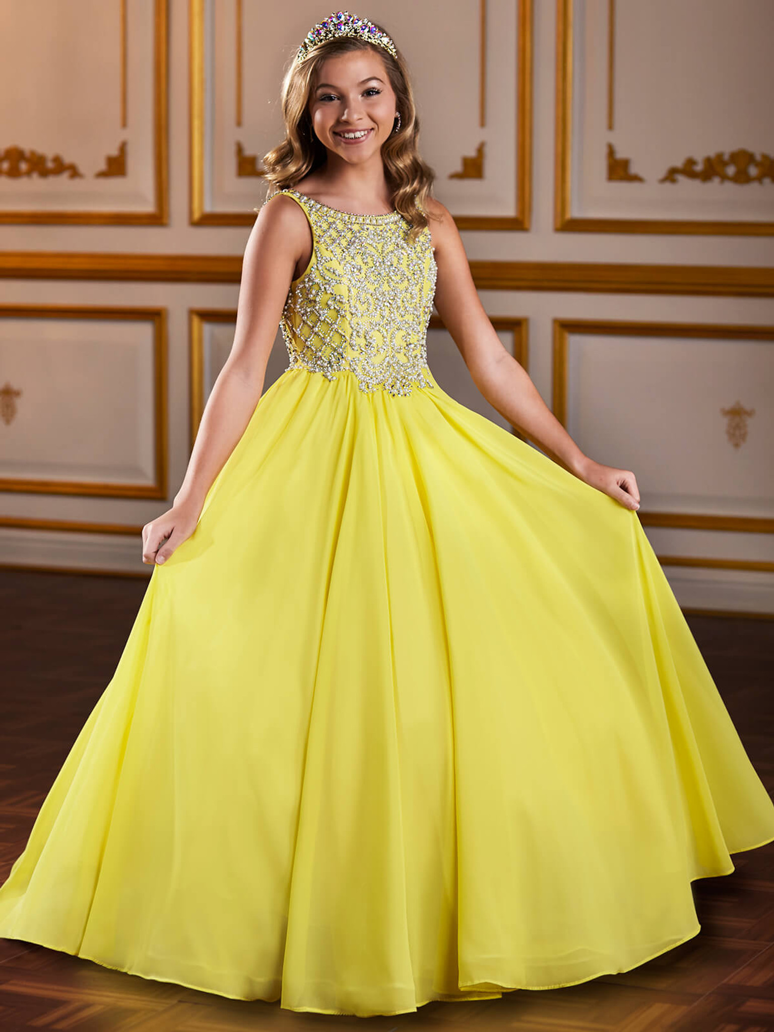 Chiffon Tiffany Designs 13586 Pageant Dress PageantDesigns